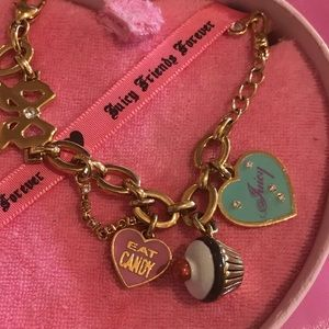 Juicy couture eat candy cupcake bow charm bracelet